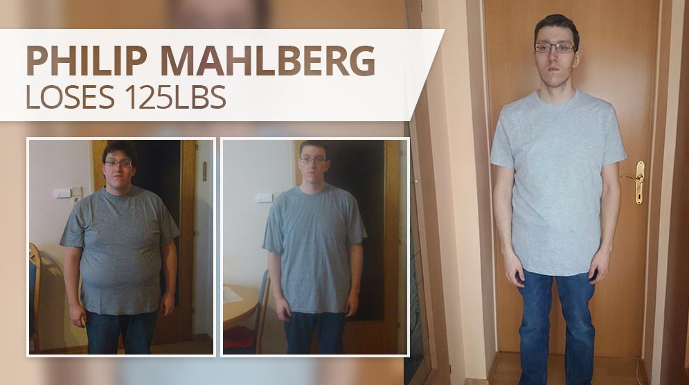 Philip Mahlberg has lost 125 pounds (56kgs)