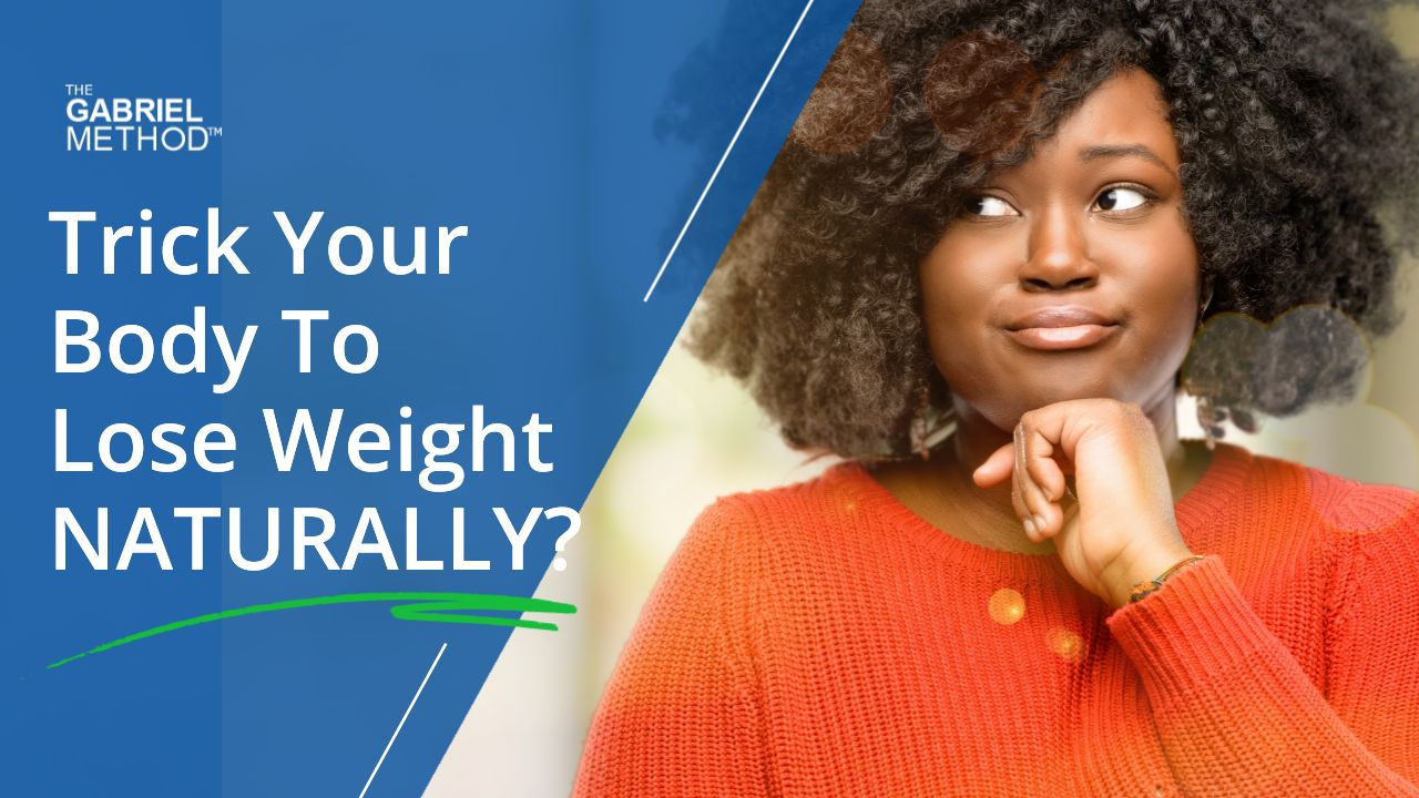 Women in orange sweater looking left - Trick your body to lose weight naturally?